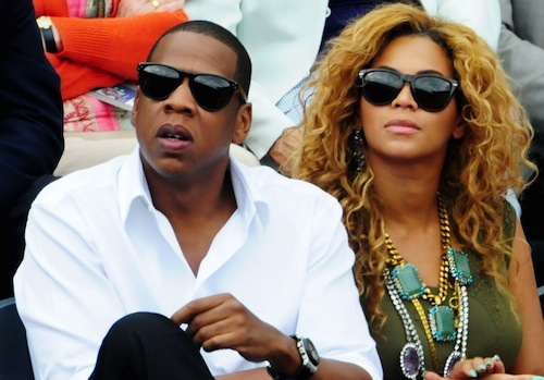 Beyonce and Jay-Z watch Nadal's match