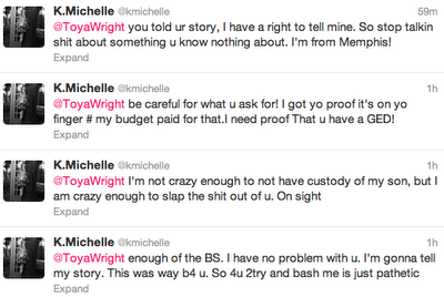 K. Michelle Fires More Shots At Toya Wright - Celebnmusic247 K Michelle And Toya Beef