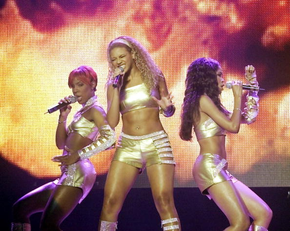 Destiny's Child Performs At MTV's TRL Tour In Las Vegas