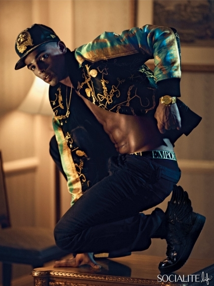 219-Madonna's Boyfriend Brahim Zaibat Shirtless in VMAN-3