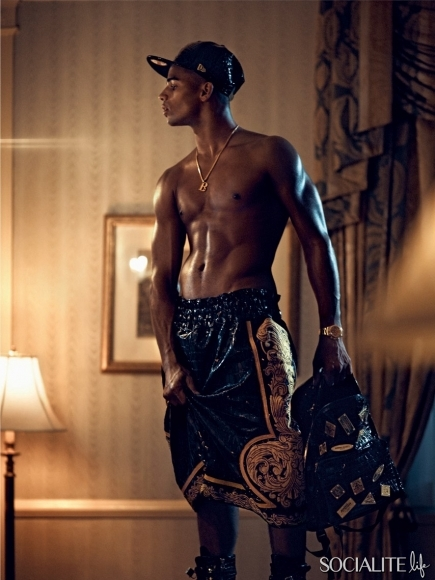 219-Madonna's Boyfriend Brahim Zaibat Shirtless in VMAN-5