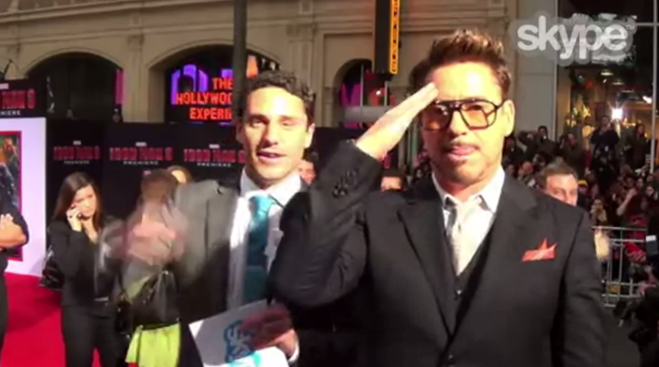 425-Robert Downey Jr Speaks to US troops from Iron Man 3 Premiere-1