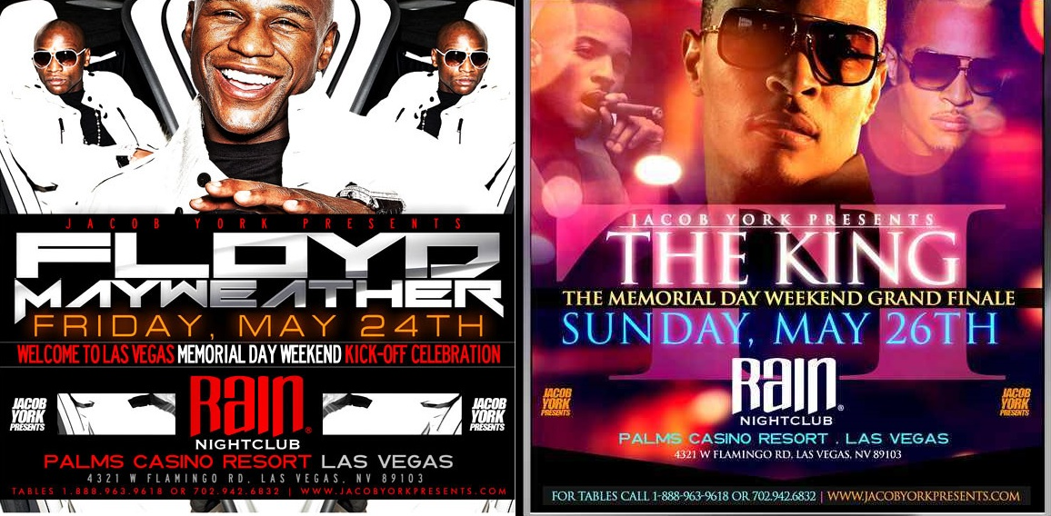 Mayweather and T.I. Set It Off Memorial Day Weekend at Rain-524-1