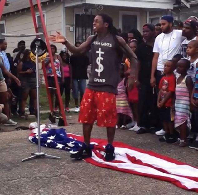 Lil Wayne Disrespects American Flag-617-2