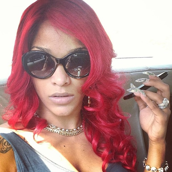 Michelle Red Hair Goes k michelle red K Michelle And Joseline Hernandez