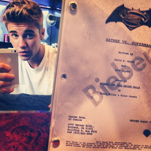 Justin Bieber Hints To Role in Batman Vs Superman-914-1