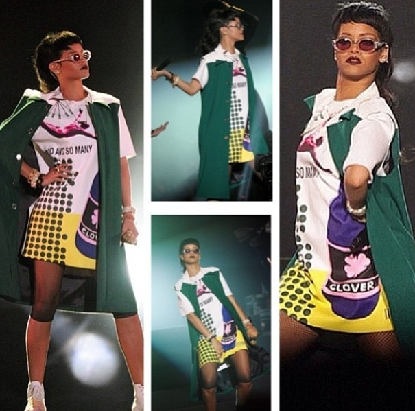 Rihanna Gives Singapore Pop Art Fashion 922 3 Celebnmusic247