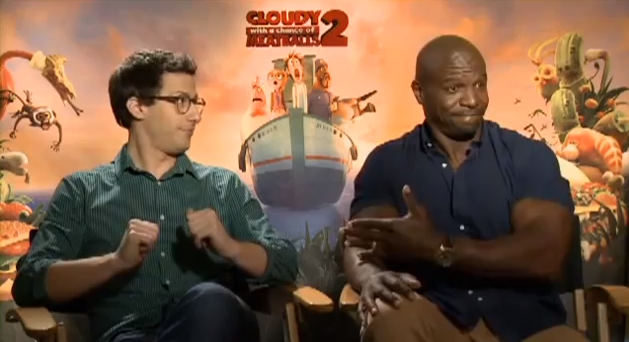 Terry Crews and Andy Samberg talk Meatballs 2-918-1