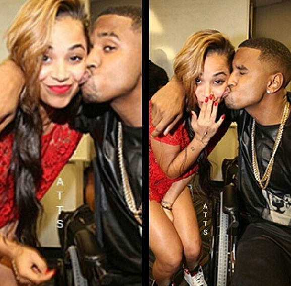 Lauren london and trey songz at basketball game