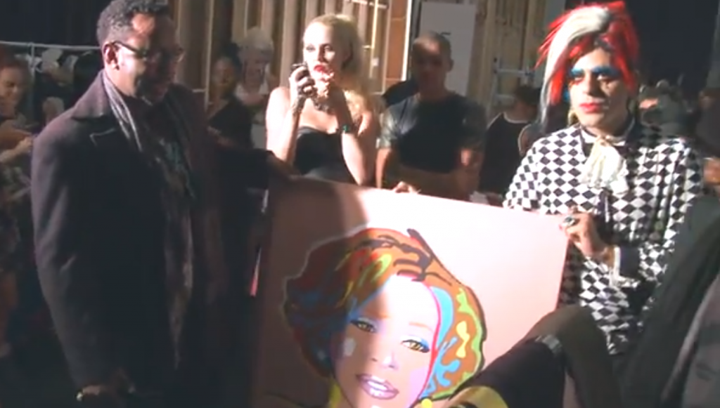 Sham Ibrahim Gives Bobby Brown A Whitney Houston Painting-1027-1