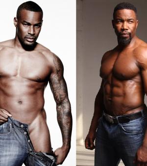African american male stripper