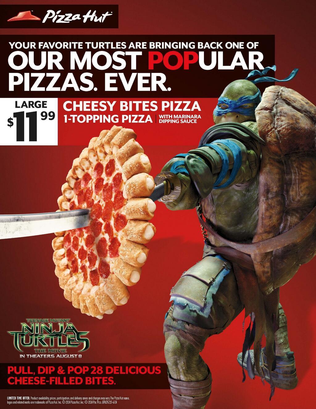 Ninja Turtle Movie 2014 Shredder Pizza Hut Teams with T...