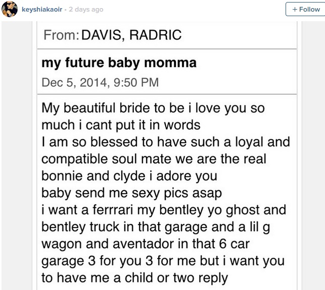 gucci mane sends future baby mama keyshia kaoir