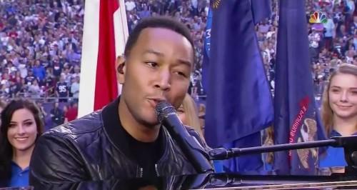 John Legend Sings 'America The Beautiful' At Super Bowl XLIX