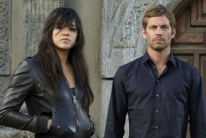 FAST & FURIOUS, (aka FAST AND FURIOUS), from left: Michelle Rodriguez, Paul Walker, Vin Diesel, Jord
