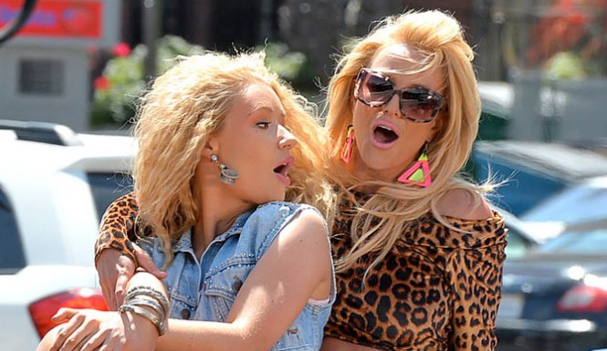 Iggy Azalea And Britney Spears 'Pretty Girls' Single BASHED-0503-1