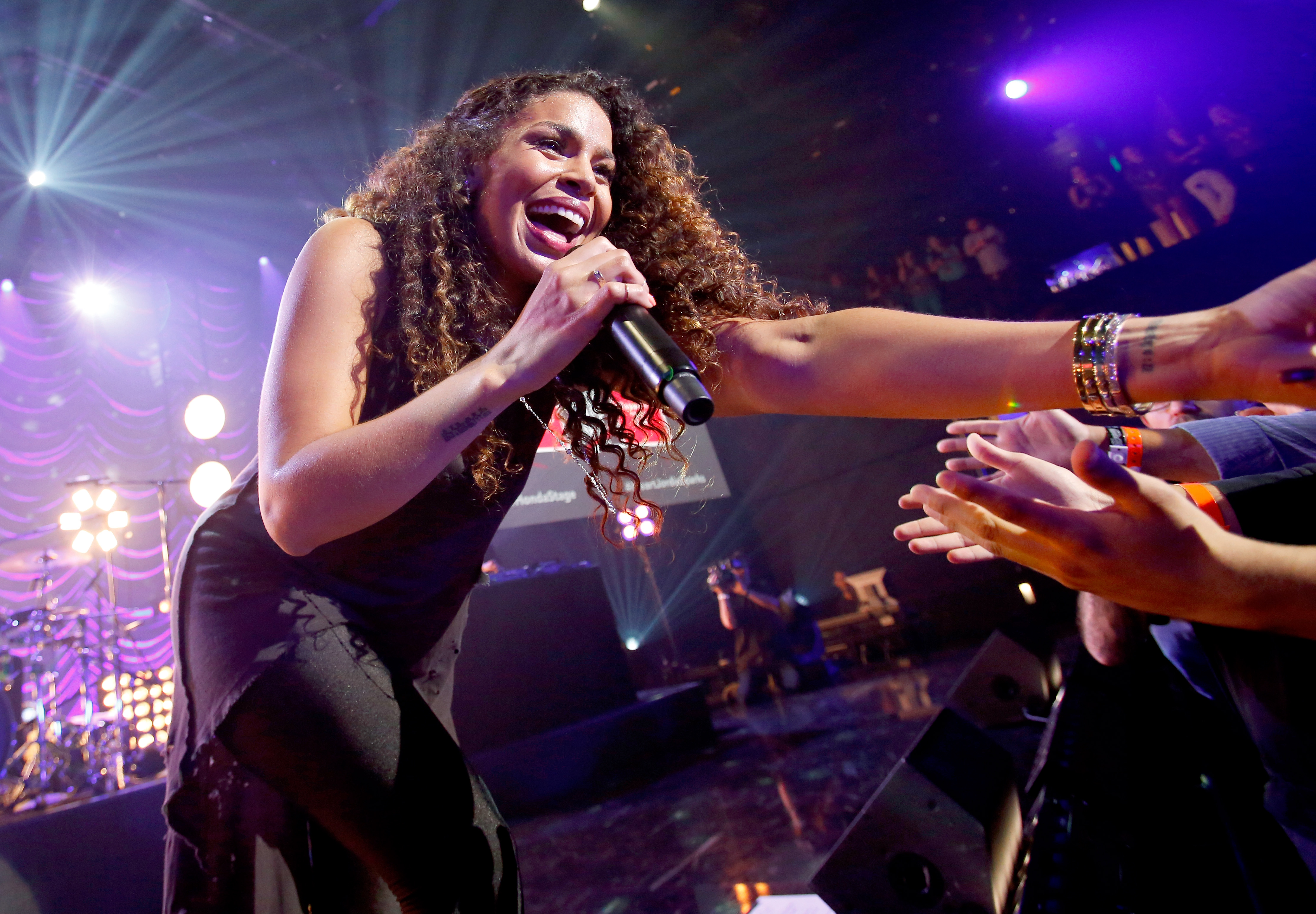 BURBANK, CA - JUNE 25:  Singer Jordin Sparks performs on the Honda Stage at the iHeartRadio Theater Los Angeles on June 25, 2015 in Burbank, California.  (Photo by Rich Polk/Getty Images for iHeartMedia)