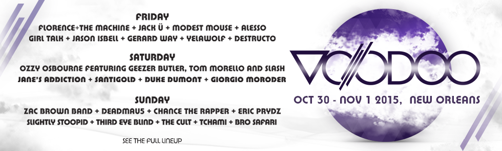 The Voodoo Music + Arts Experience Lineup 2015