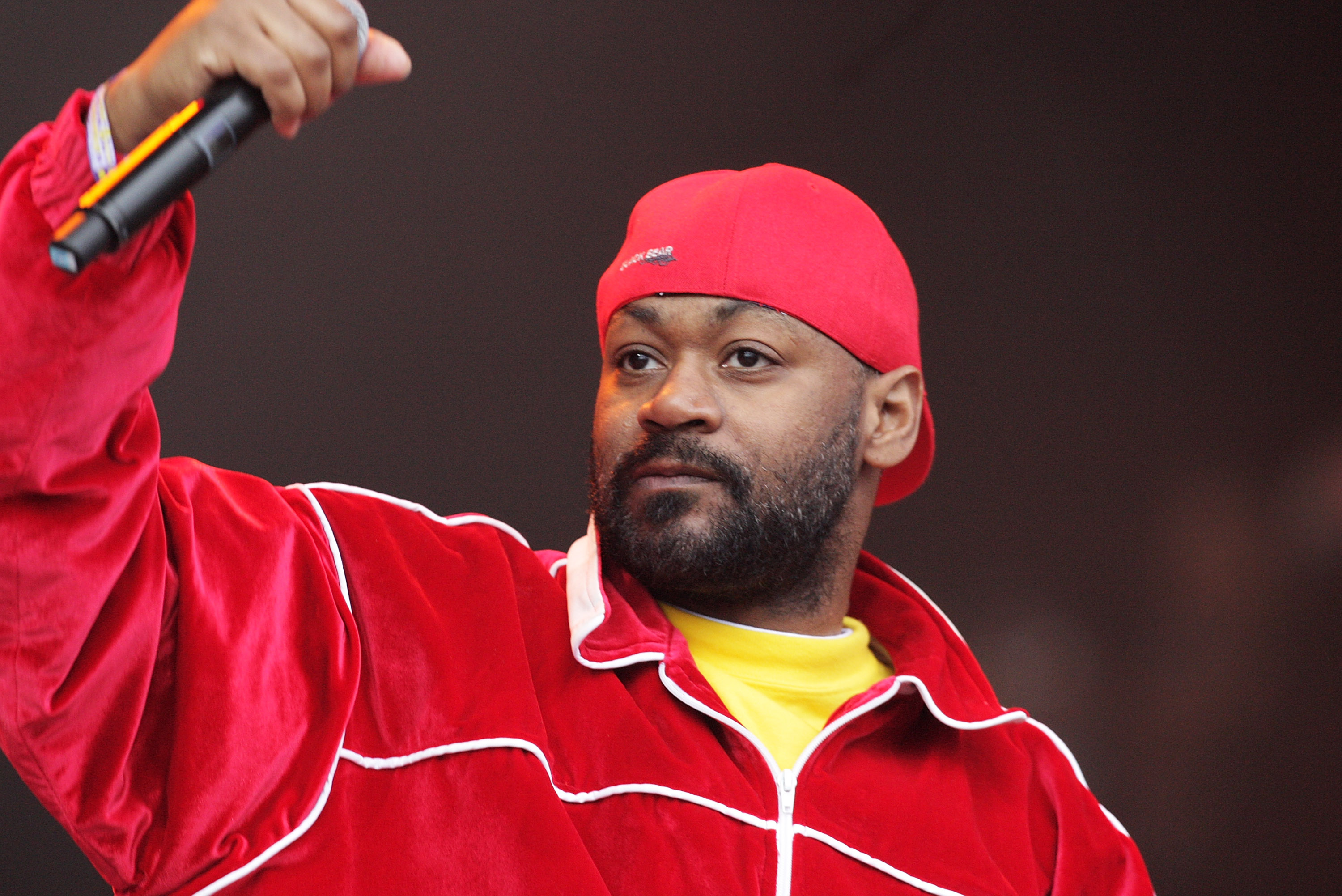 GLASTONBURY, ENGLAND - JUNE 24:  Ghostface Killah of The Wu-Tang Clan performs at the Glastonbury Festival at Worthy Farm, Pilton on June 24, 2011 in Glastonbury, England. The festival, which started in 1970 when several hundred hippies paid 1 GBP to watch Marc Bolan, has grown into Europe's largest music festival attracting more than 175,000 people over five days.  (Photo by Fergus McDonald/Getty Images)
