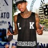 LOS ANGELES, CA - JUNE 28:  Recording artist Tyga hosts the Last Kings Summer 2014 Collection Launch on June 28, 2014 in Los Angeles, California.  (Photo by Michael Bezjian/WireImage)