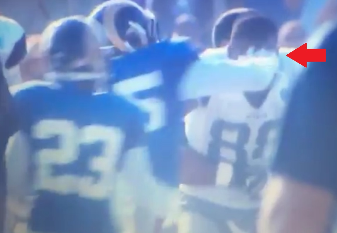 Dez Bryant Slugged in The Face During Cowboys-Rams fight-0819-2