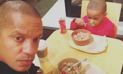 Peter Gunz with son Mikey