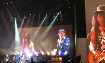 AC/DC Joins Gunz N Roses On Stage At Coachella