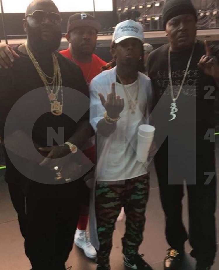 Lil Wayne Poses with Rick Ross Trick Daddy
