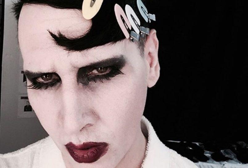 Marilyn Manson Falls Off Stage at Virginia Gig