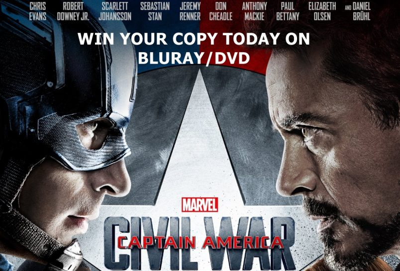 WIN A Copy of MARVEL'S CAPTAIN AMERICA: CIVIL WAR on BLU-RAY/DVD