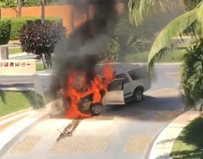 Waka Flocka Flame's Car Goes Up in Flames