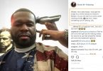 50 Cent Proves He's No Bow Wow with Stacks of Blue Bills
