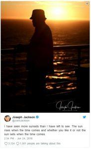 "Joe Jackson Prepares Himself Saying ""Goodbye"" on Twitter"