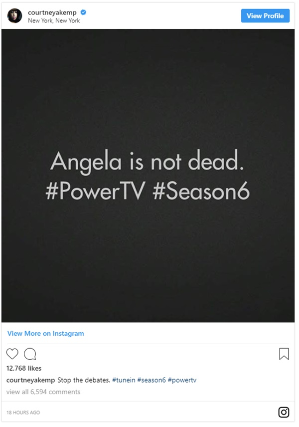 Power Creator Confirms Angela Is NOT Dead