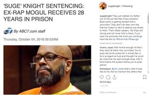 "Suge J Knight: ""They Robbed My Father Suge Knight Out of Life"""