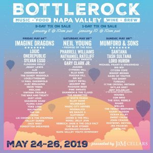 7TH ANNUAL BOTTLEROCK NAPA VALLEY MAY 24 - 26, 2019