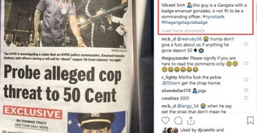 """""""Get the Strap"""" NYPD Officer Investigated for Threatening 50 Cent"""