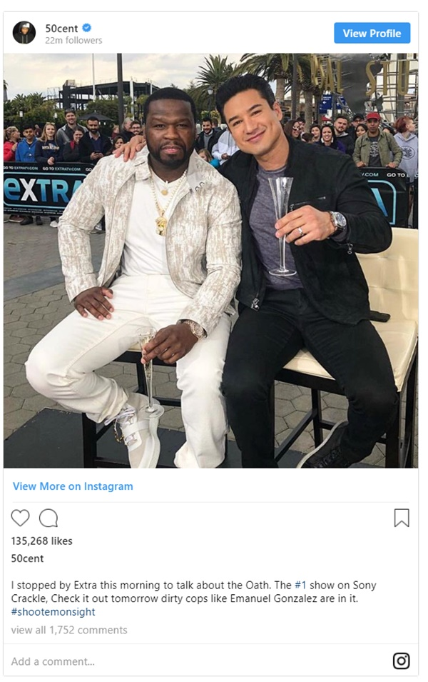 50 Cent Promotes The Oath; Wears Bulletproof Vest + Takes Jabs at Dirty Cop