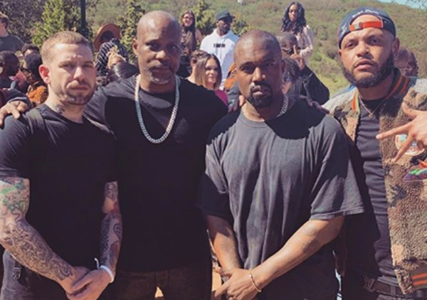 DMX Leads Prayer At Kanye West #SundayService