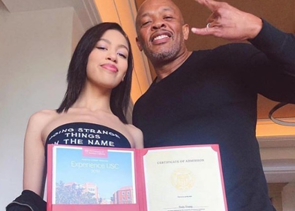 Dr. Dre Praises Daughter Acceptance to USC on Her Own