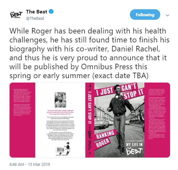 OMG! Ranking Roger General Public + English Beat singer Dead