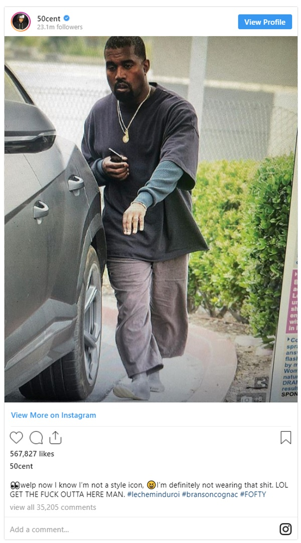 50 Cent Rips Kanye West Fashions Sense
