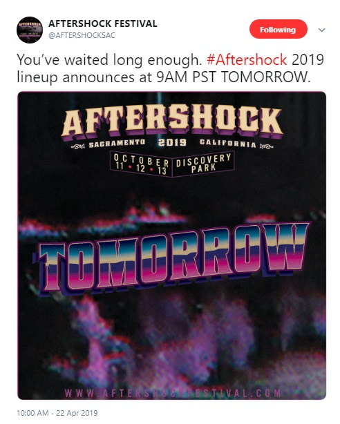Did Aftershock 2019 Lineup Accidentally Leak