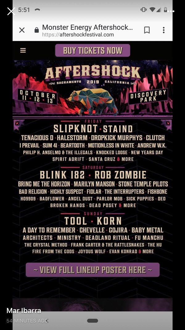 the Monster Energy Aftershock festival
