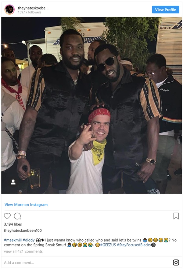 Meek Mill + Diddy Twinning Pic Sparks Gay Rumors