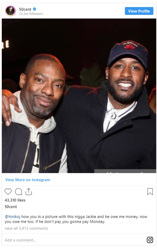 50 Cent Bullies Actor Jackie Long For Owing Him Money
