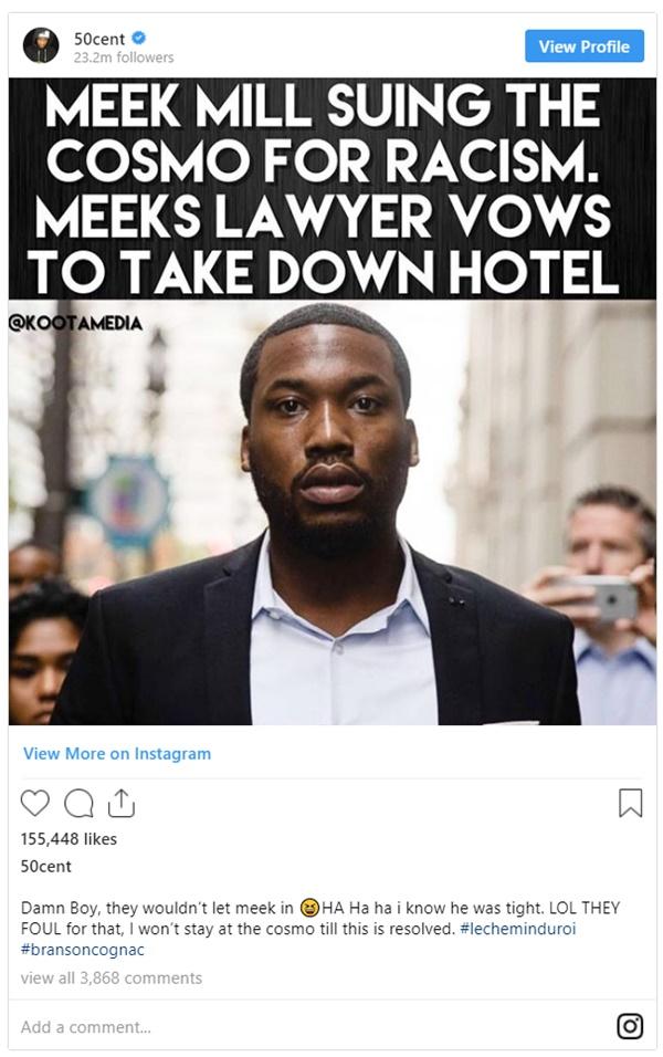 Meek Mill Suing Cosmopolitan Hotel for Blatant Racism