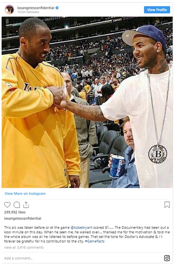 Rapper Game Caught Lying About Kobe Bryant