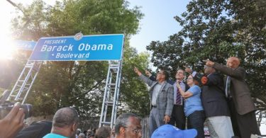 Los Angeles Rodeo Rd Changed to President Barack Obama Blvd.