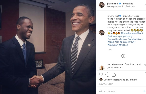 Fugees Pras Indicted Over Political Donations; IG Photos Time Stamped